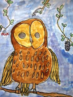 Learning How to Draw in Grade One   Art Lessons For Kids draw, art project, art idea, owl, art kids class, grade, learning, teach, art lessons for kids
