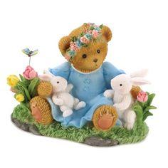 Cherished Teddies Bear Bunny Easter Figure Home Decor Steiff Teddy Bear, Boyds Bears, Teddy Bears, Biscuit, White Bunnies, Bear Images, Love Bear, Collectible Figurines, Ceramic Clay