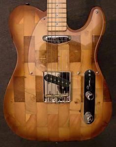 Wallace Detroit Guitars are Electric guitars made with wood reclaimed from abandoned houses in Detroit.