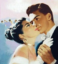 Young couple dancing together vintage romantic poster - vintage romantic gifts ideas diy Romance Vintage, Humor Vintage, A Fine Romance, Love Vintage, Images Vintage, Retro Humor, Vintage Ads, Poster Vintage, Retro Funny