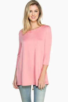 ShopSosie Style : Taylor Tunic Top in Coral