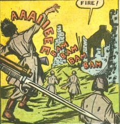 Panel from the comic book | Atomic War #2 (1952)