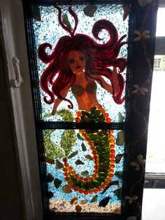 Mermaid MOSAIC WINDOW $99.99 by MAYRA FELICIANO