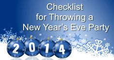 Checklist for Throwing a New Year's Eve Party. Click here to follow our checklist & throw a successful New Year's Party.