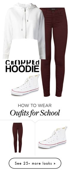 """""""School's Out"""" by quonton on Polyvore featuring J Brand and Converse"""