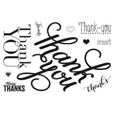 NEW clear stamps - Another Thank You!  more info on #CLOcards blog!  Shop today!