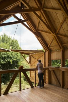 Central park, in Kent (UK) is a community arts studio, bird-watching hide, park shelter, and semi-outdoor tiled classroom