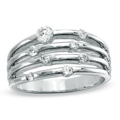 1/2 CT. T.W. Diamond Orbit Band in 10K White Gold