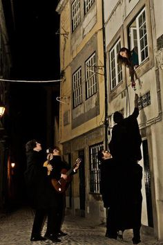 Students of Coimbra's University serenading. (#Fado at Coimbra), #Portugal enjoy portugal holidays www.enjoyportugal.eu