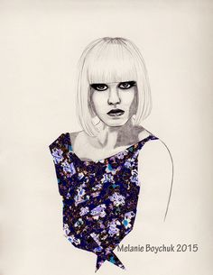 Print of an Original Fashion Illustration - Origami Paper and Pencil by MelaniaB on Etsy