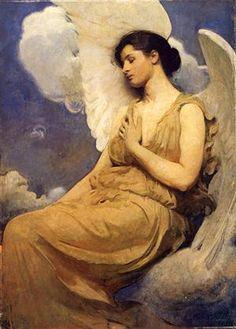jaded-mandarin:    Winged Figure - Thayer.