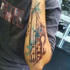 Chef's Knife Watercolor Tattoo
