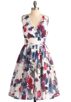 Glamour Power to You Dress in Watercolor summer dresses, fashion, glamour power, modcloth, beauti, closet, pretti, watercolor dress, floral