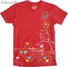 Fruits Basket Animal Outline Hearts T-Shirt