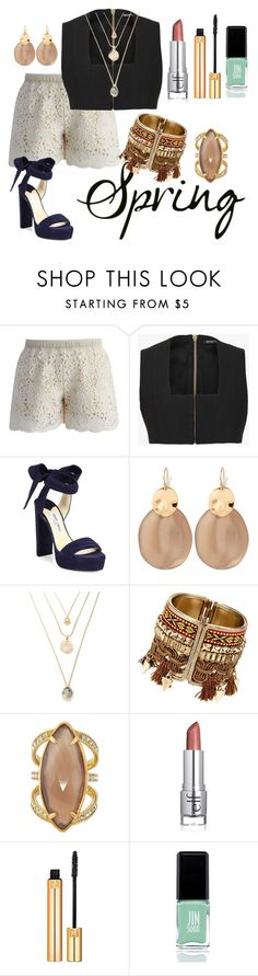 """""""Untitled #2488"""" by michele-96 ❤ liked on Polyvore featuring Chicwish, Balmain, Jimmy Choo, Alexis Bittar, Henri Bendel, Yves Saint Laurent and JINsoon"""