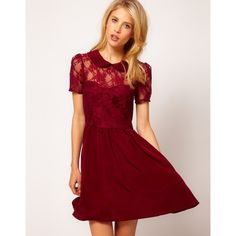Asos Lace Shirt Dress With Peterpan Collar ($60.)  Perfect Valentine's Day dress!