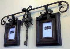 Lots of ideas from Rod Works (LOVE) for hanging pictures from rods.