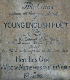 Unmarked grave of the Poet John Keats..<3