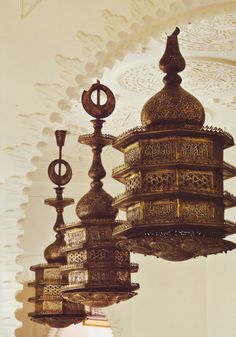 Global style / home : Brass pendants -Orientalism by Alberto Pinto
