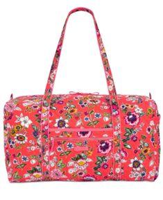 Vera Bradley Iconic Extra-Large Travel Duffle - Red Vera Bradley Duffel Bag aca8ebfae10ba