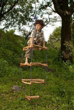 Wooden Playground Monkey Bars