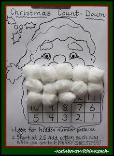 Santa Beard Calendar via RainbowsWithinReach