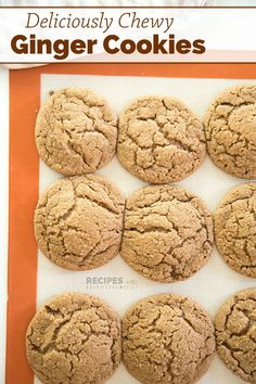Soft batch style ginger cookies, yes please! While we love to make gingerbread cookies to decorate during the holidays, I much prefer a softer, chewier coo