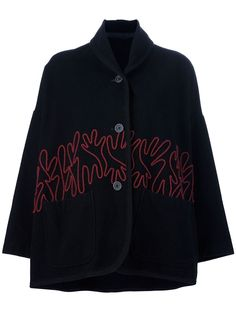 Romeo Gigli Vintage Embroidered Cape Jacket - A.n.g.e.l.o Vintage - Farfetch.com