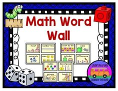 Use these colorful, child-friendly cards to create a beautiful math word wall in your primary classroom. There are now 94 words included (new words have been added) and each printable page shows four cards. Please see the complete word list on the TPT preview!