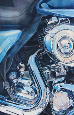 Live To Ride #4 by Tammy Meeske Watercolor, framed ~ 30 x 20