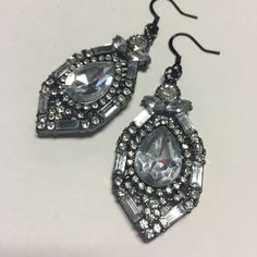 For Sale: Jeweled 20's Style Earrings for $16