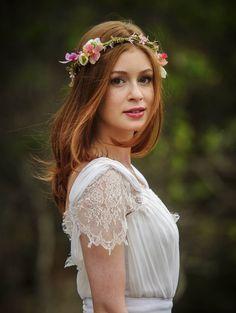 Marina Ruy Barbosa grava vestida de noiva em Carrancas, Minas Gerais (Foto: Alex Carvalho/TV Globo)