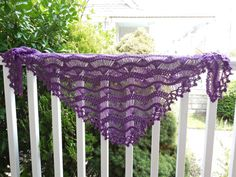 Deep Purple Hairpin Lace Crochet Shawl by CasadeAngelaCrochet, $79.00