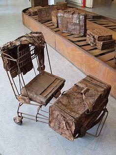 Jan van der Merwe - Baggage Arrival 2001 - art.co.za Art in South Africa