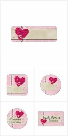 Lovely Buttons - #handmade #marketing #stickers #labels #smallbusiness #personalized #packaging #buttons #sewing #crafting #zazzle