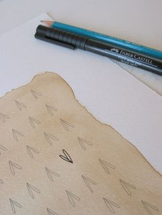 Coffee Paper and Ink drawings would be awesome decorations for around the house!