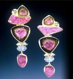 Monet's Garden Earrings, Helen Blythe-Hart