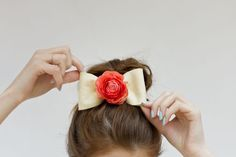 For all the ladies at the party... girlie DIY Fresh Flower Felt Bows  {Studio DIY}