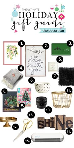 Fun gift ideas for the decorator in your life and a give away at the end-a silhouette! This is the brand I've been wanting!