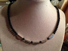 Black Necklace  Silver Jewelry  Fashion Jewellery  by cdjali, $20.00