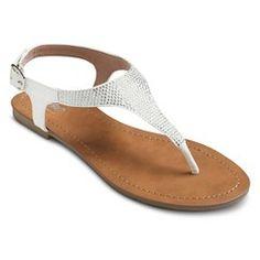 f61136590cba Women s Kendra Rhinestone Thong Sandals - White 7.5. Get surprising  discounts up to 50%