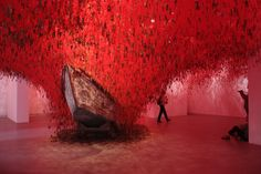 Chiharu Shiota's The Key in Hand at the Japan Pavilion  Biennale di Venezia 2015