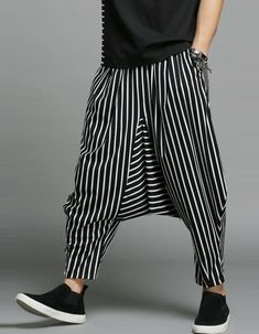 3fc54fc202f MOO Extreme Drop Crotch Tapered Trousers Sirwal with B   W Stripes
