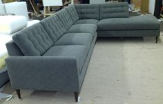 """Hana"" Sofa/Bumper Chaise Sectional - Every style can be customized in virtually any way possible!  www.MonarchSofas.com More custom pieces on our Houzz profile! http://www.houzz.com/pro/thesofaworks/monarch-sofas"