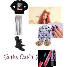 Cooly Outfit 9 by daijah-thomas on Polyvore featuring Forever 21, Hush Puppies, Hollywood Mirror, Juicy Couture, Volum and Maybelline