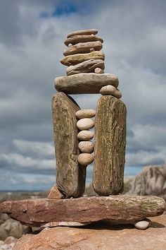An Inukshuk is a stone landmark or cairn built by humans, used by the Inuit, Inupiat, Kalaallit, Yupik, and other peoples of the Arctic region of North America.