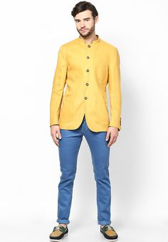 Mustard Yellow Ethnic Jacket at $304.00 (24% OFF)
