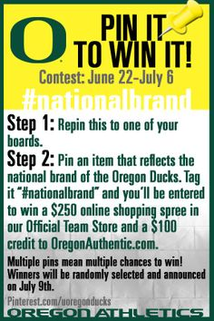 One more day to show us what makes Oregon a #nationalbrand. Let's see what you've got! Go Ducks!