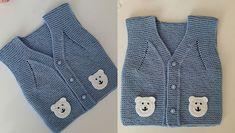 Bebek ve çocuklar için yapılan örgü yelek modellerinde değişik değişik motifler kullanılıyor. Ayı motifi kullanılarak yapılan bebek yeleği yapılışı bu yazıda.