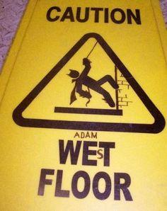 "Worth doing…  ""Caution: Adam West Floor"""